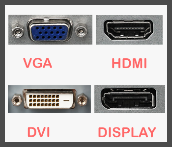 monitor connector types